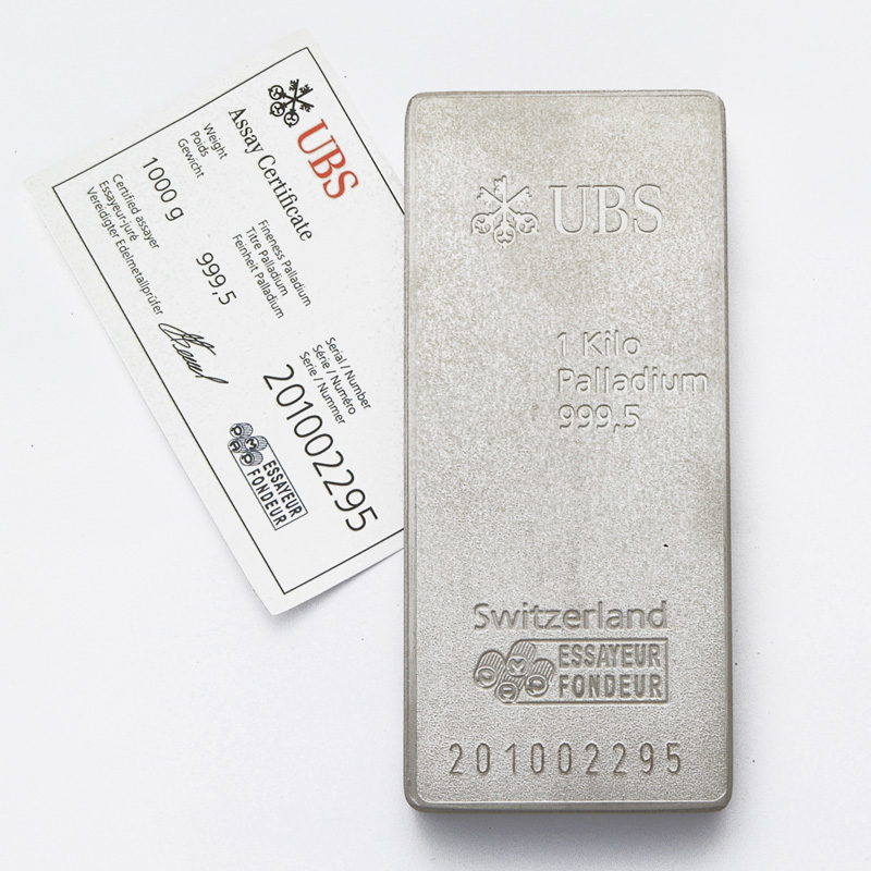 1 Kg Palladium Bar Buy Palladium Online