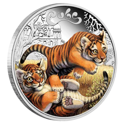 Perth Mint 1/2 Ounce Tiger Cubs Silver Proof Coin