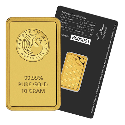 Perth Mint 10 Gram Gold Bar Gold Bullion Co