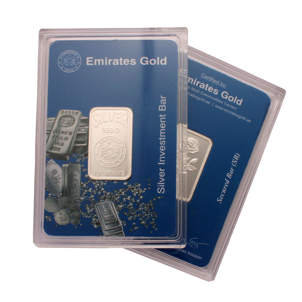 Emirates 10 Gram Silver Bar 2 Pack Gold Bullion Co