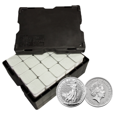 STORAGE ONLY - 1oz Silver Britannia Monster Box - VAT FREE