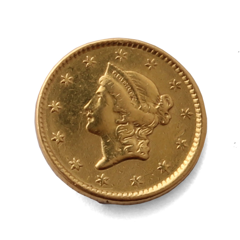 1851 US $1 Gold Coin