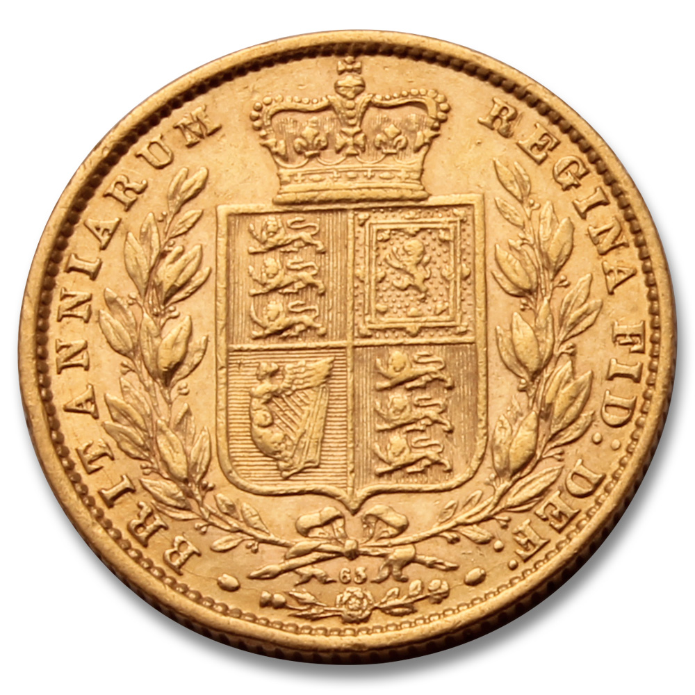 Royal Mint 1871 Shield Back Gold Sovereign 22 Carat Gold