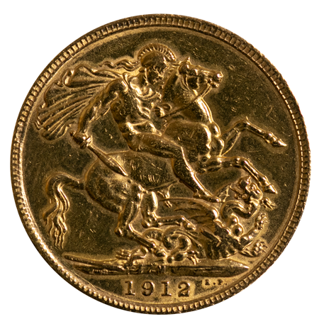 1912 Queen Victoria Gold Sovereign Melbourne