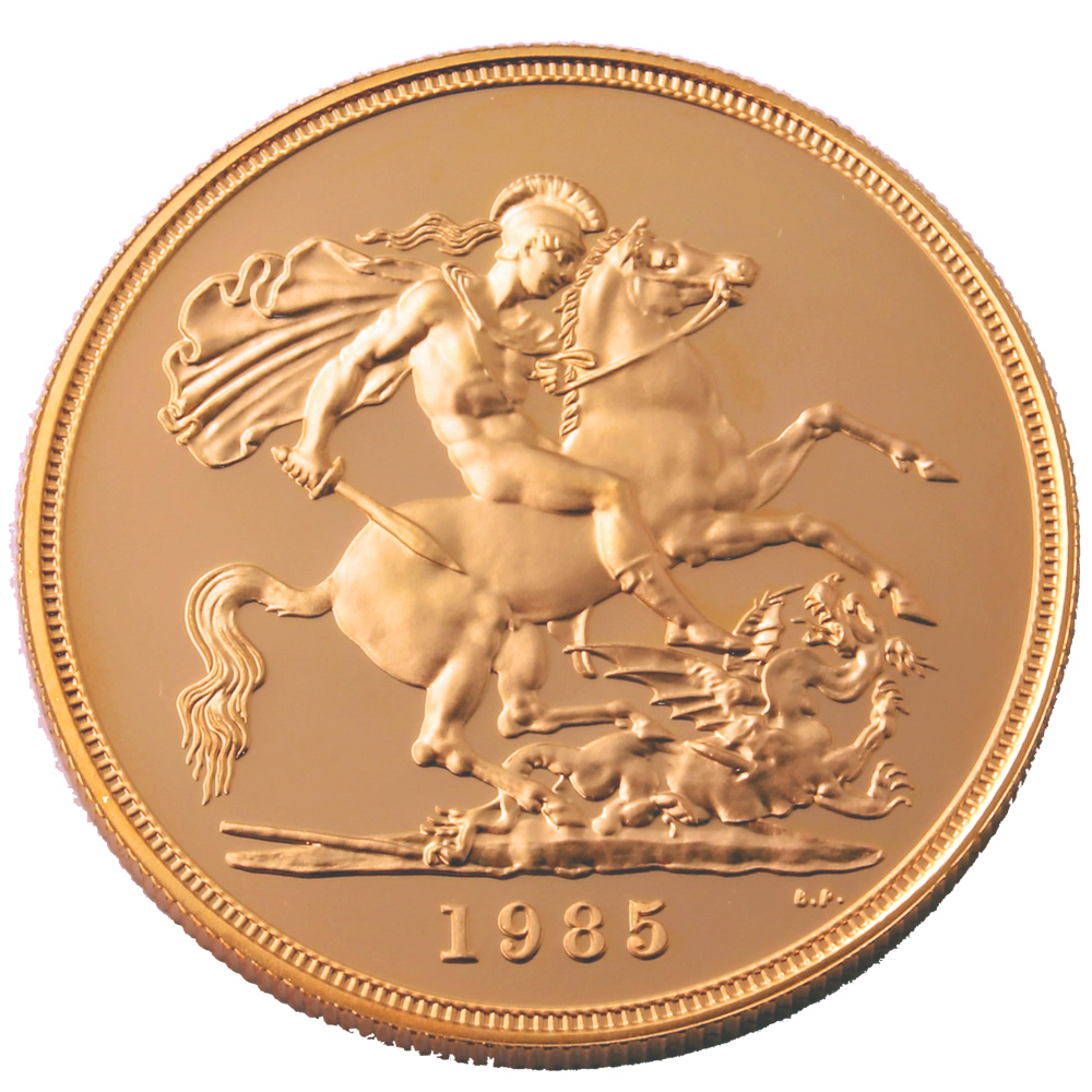 1985 £5 Proof Gold Crown