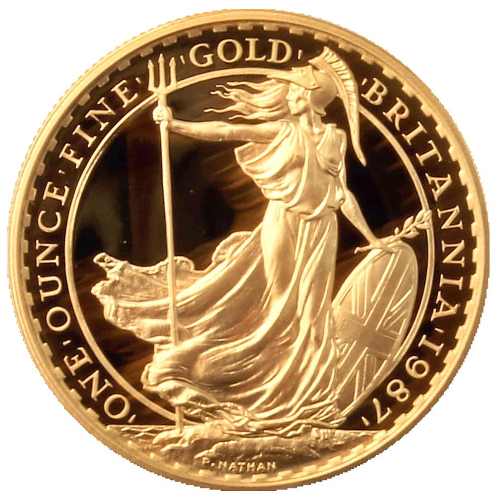 1987 Proof Gold Britannia 1oz Gold Bullion Co