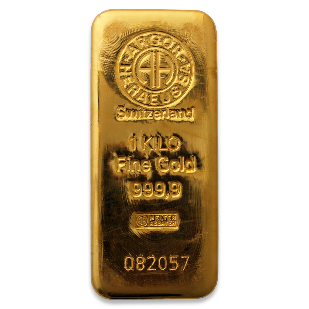 1kg Gold Bar Buy 1 Kilo 1000g Gold Bullion Bars