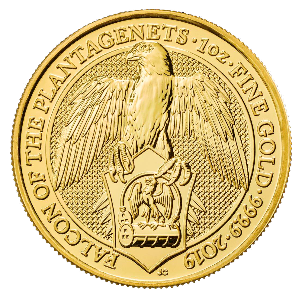 2019 1oz Gold Quot Falcon Quot Queen S Beast Collection Gold