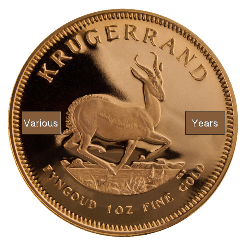 Mixed Year Krugerrand - Our Choice - Subscribers Only