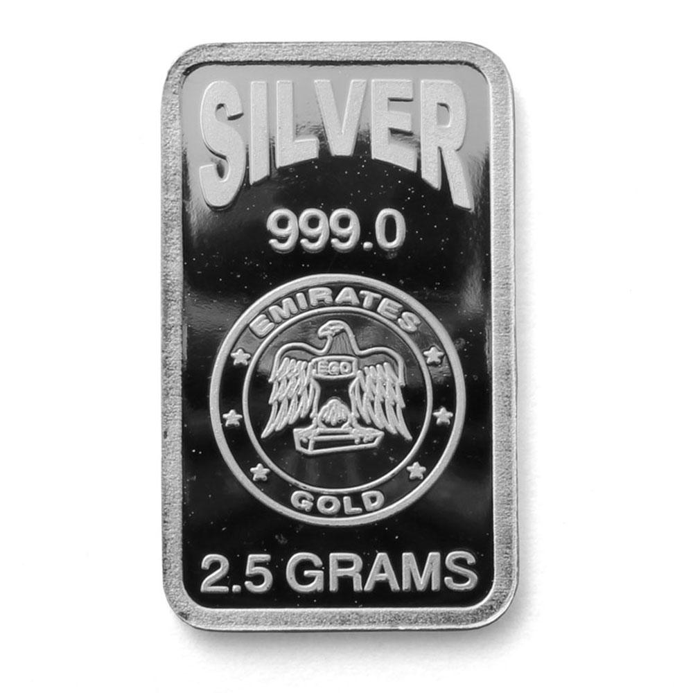 Emirates 2 5 Gram Blister Pack Silver Bar
