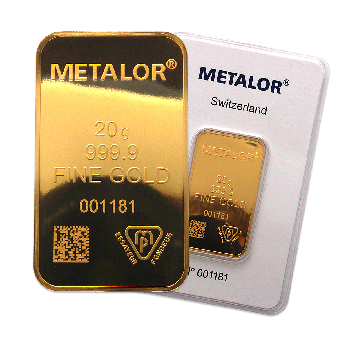 Metalor 20g Gold Bar 20 Gram Gold Bullion Bars Gold