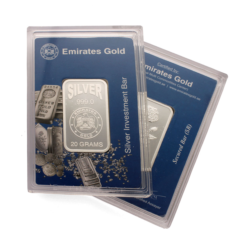 Emirates 20 Gram Silver Bar 2 Pack Gold Bullion Co