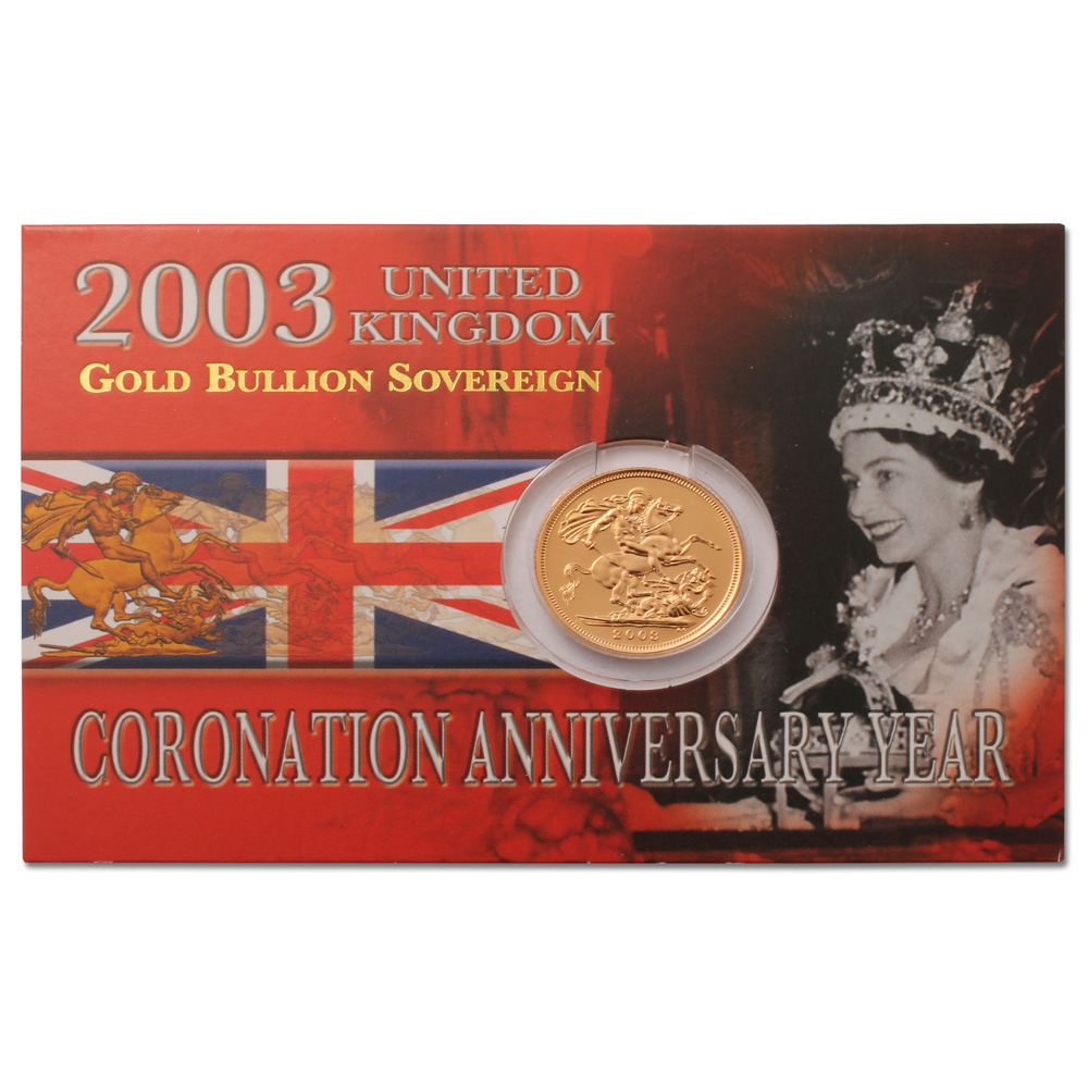 2003 Gold Sovereign in Presentation Packaging