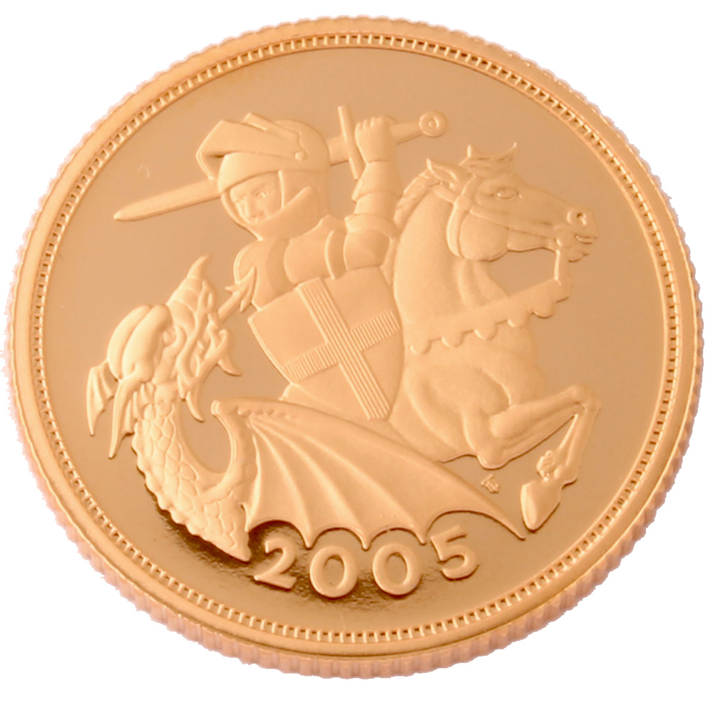 2005 Proof Half Sovereign