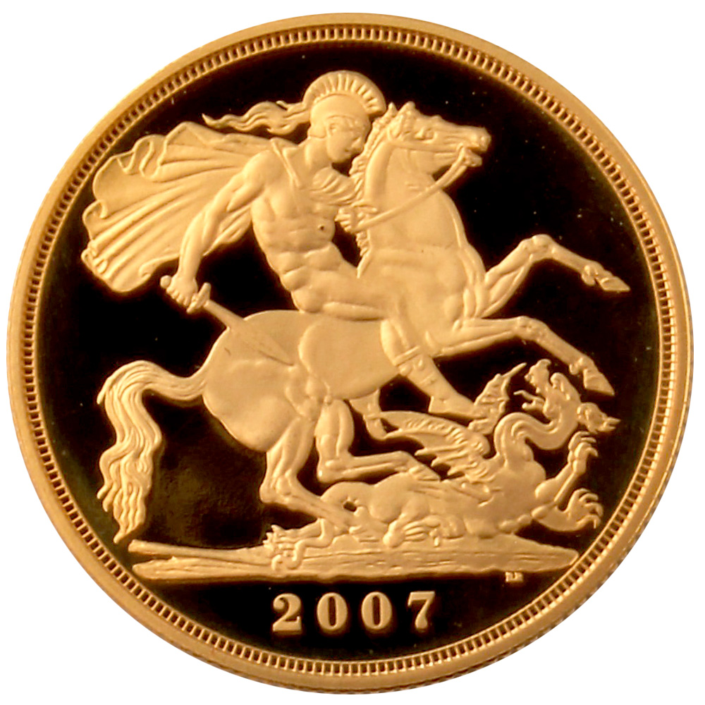 £5 2007 Gold Proof Sovereign