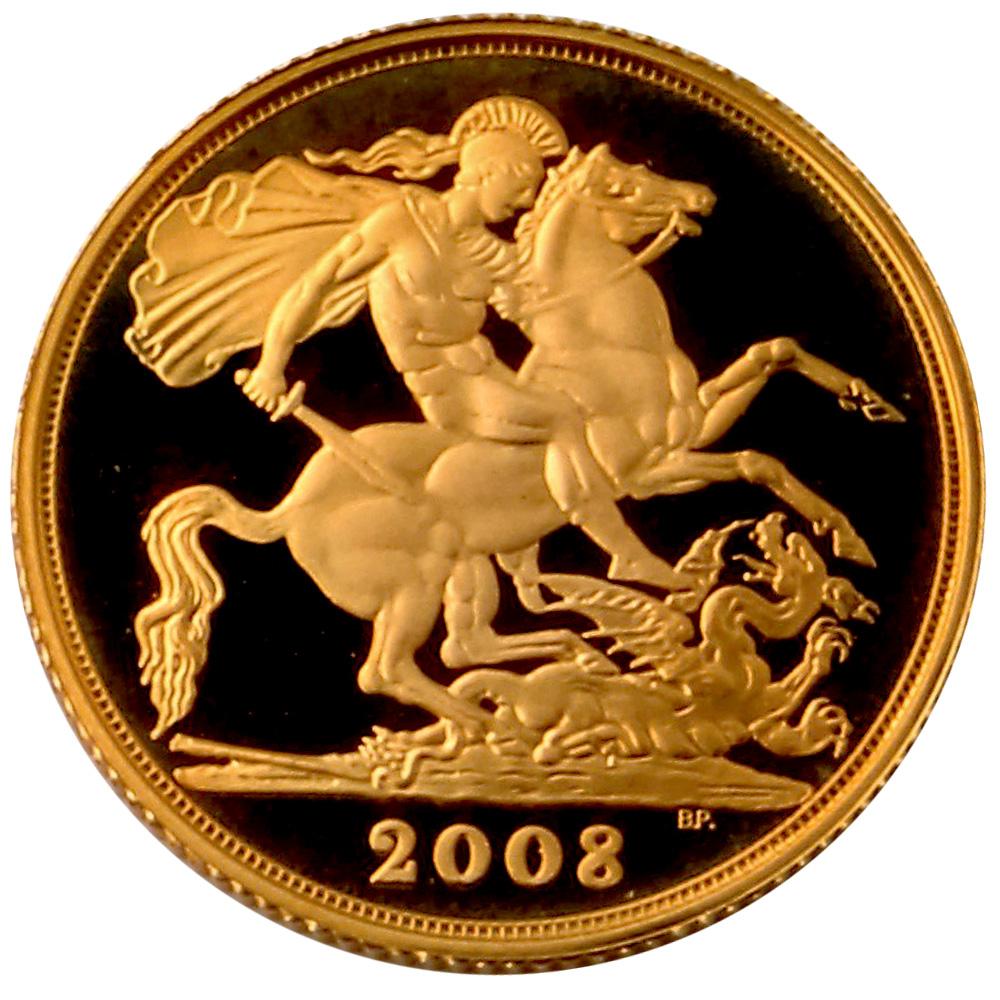 2008 Gold Proof Sovereign Gold Bullion Co