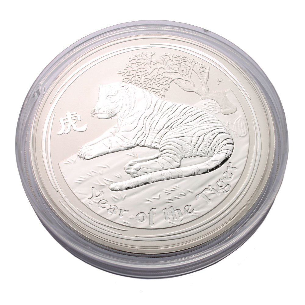 2010 Year Of The Tiger 1kg Silver Coin