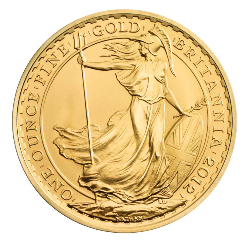 2012 Gold Britannia 1oz Coin British Gold Britannia Coins