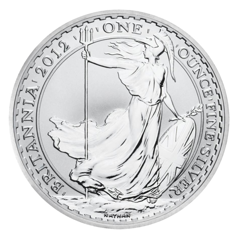 2012 Silver Britannia Coin From The Royal Mint