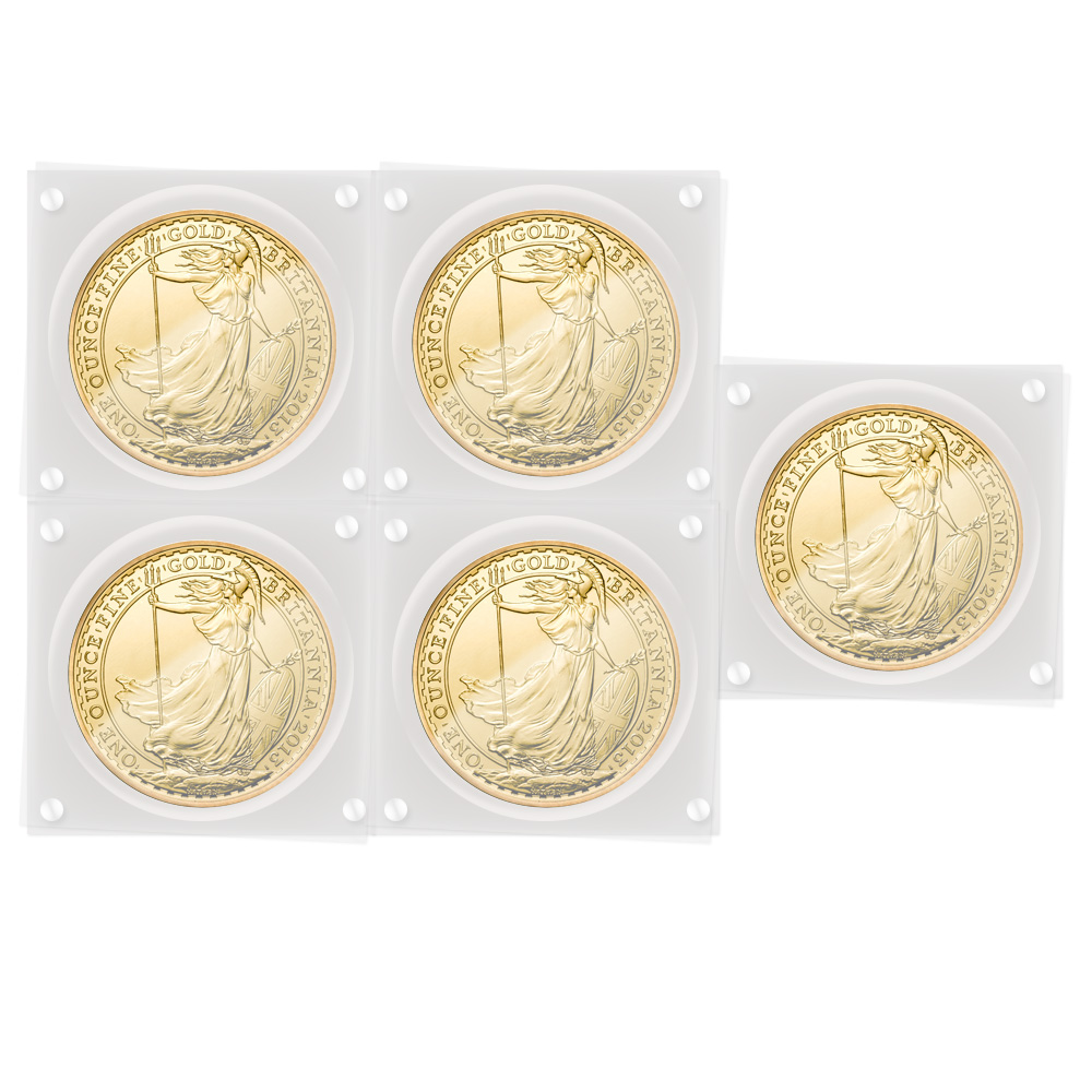 2013 Gold Britannia Discount 5x Multi-Pack