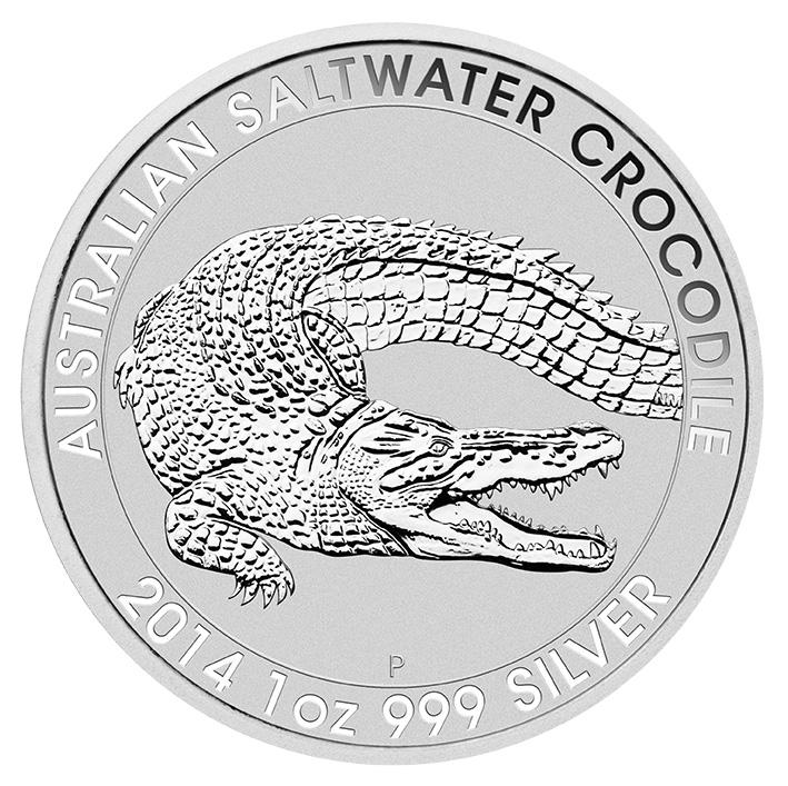 2014 1oz Silver Australian Crocodile Coin