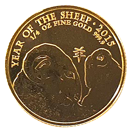 2015 1/4oz Gold Year of the Sheep