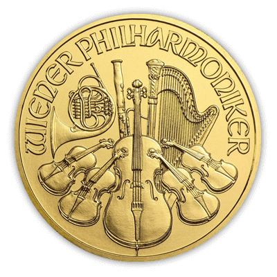 Austrian Philharmonic 1oz Gold Coin