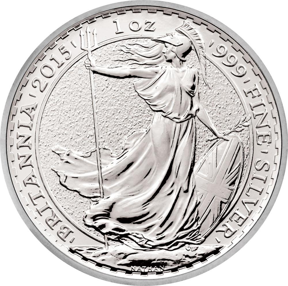 2015 Silver Britannia Royal Mint 2015 Silver Britannia Coins