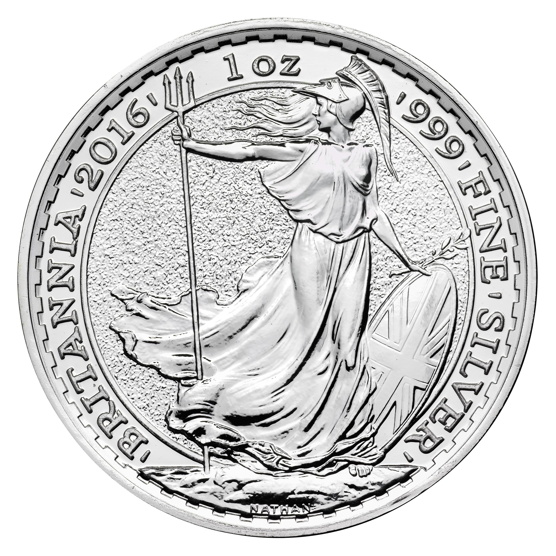 2016 Silver Britannia Royal Mint 2016 Silver Britannia Coins