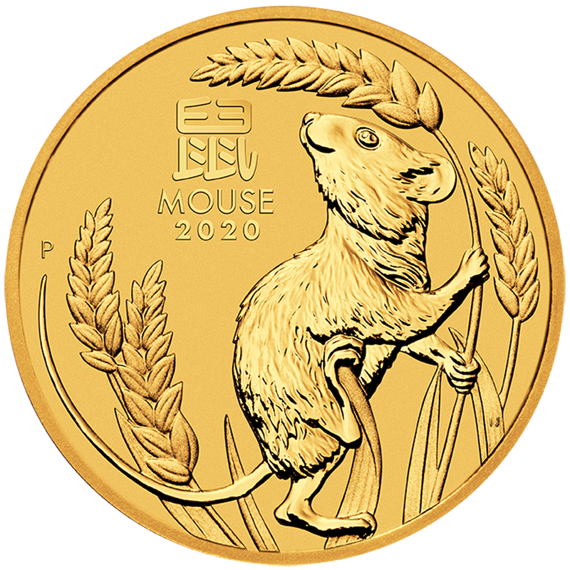 2020 1/4oz Lunar Mouse Gold Coin - Perth Mint
