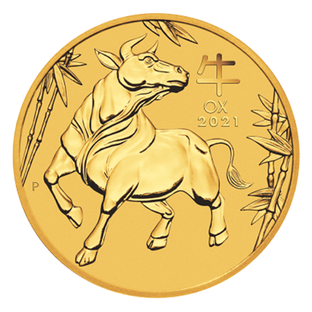 2021 2oz Lunar III Ox Gold Coin - Perth Mint