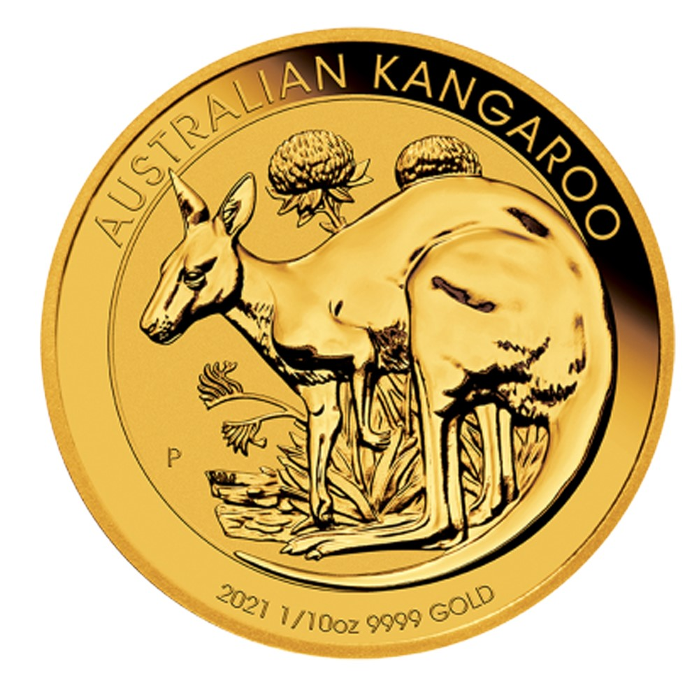 2021 1/10 oz Nugget Kangaroo Gold Coin