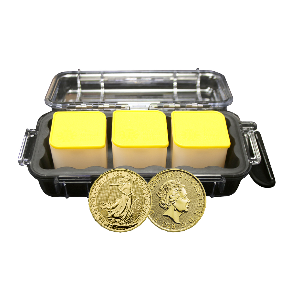 30x 2021 1oz Gold Britannia Peli Micro Case Bundle