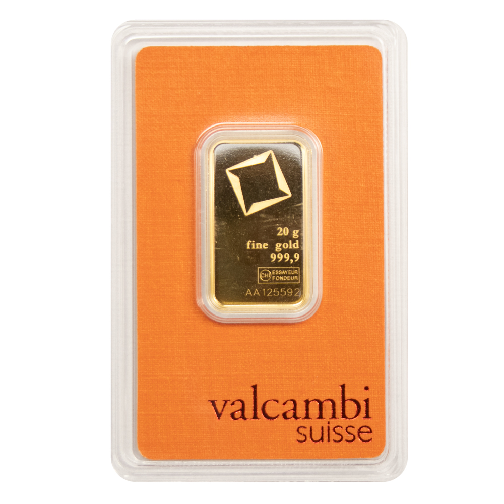 20g Gold Bar - Valcambi Certified