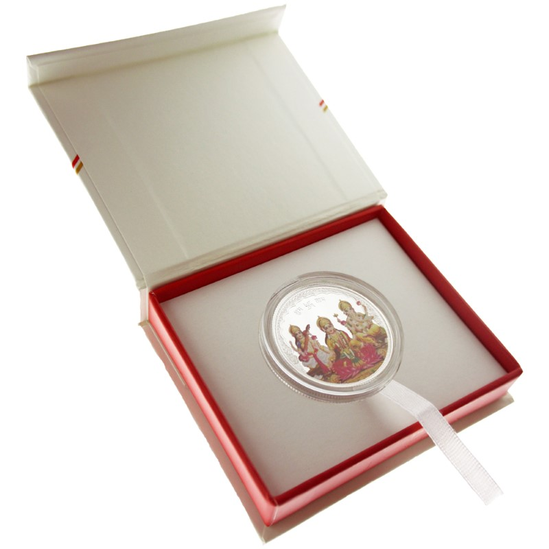 20g Tri-God Silver Round Coloured in Gift Box