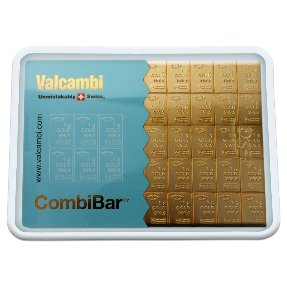 50 Gram Gold Combibar Valcambi Combibar