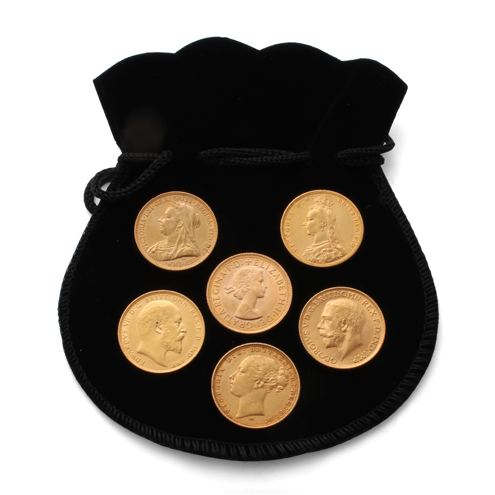 6 Selected Gold Sovereigns Gold Bullion
