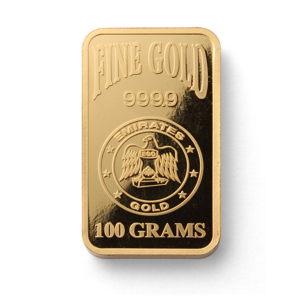Emirates Gold 100 Gram Blister Pack 100 Gram Gold Bar