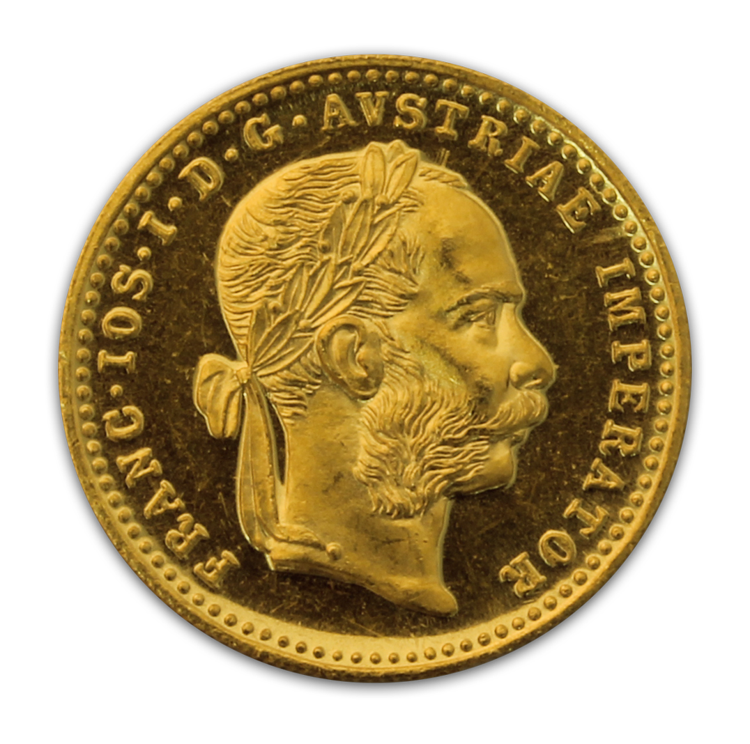 Austrian 1 Ducat Gold Coin - Popular Bullion. Low Premium - Recognizable - Pure - In Stock - Private. Live Pricing. Satisfaction Guaranteed. Free Shipping.