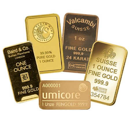 1 Ounce Gold Bars | Investment Market