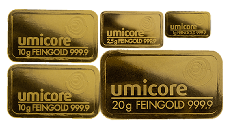 CLEARANCE - Umicore Gold Bar - Starter Investment Bundle