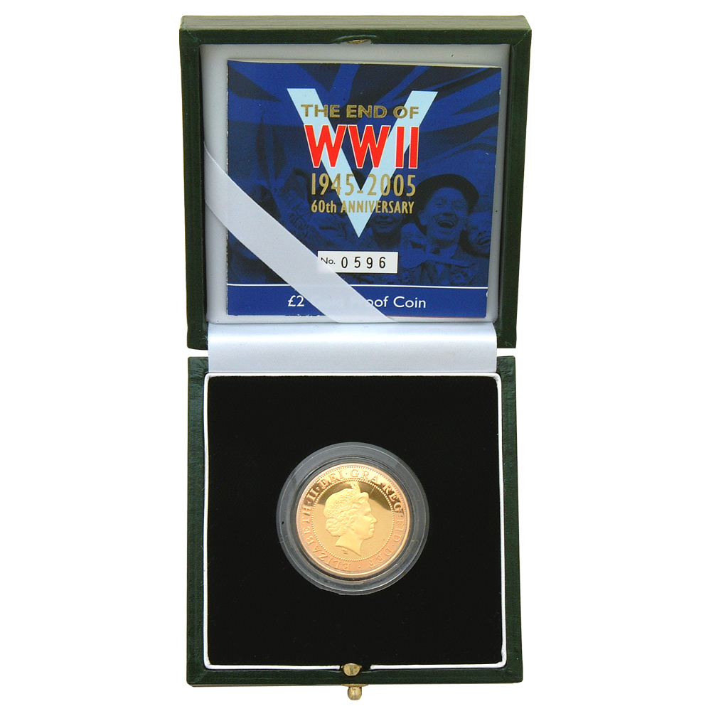 WWII 60th Anniversary £2 Gold Coin