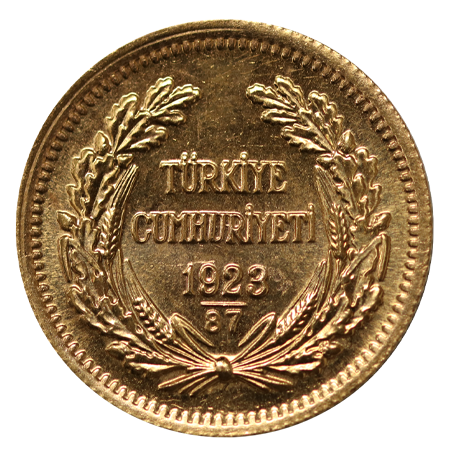 Turkish 100 Piastres Gold Coin