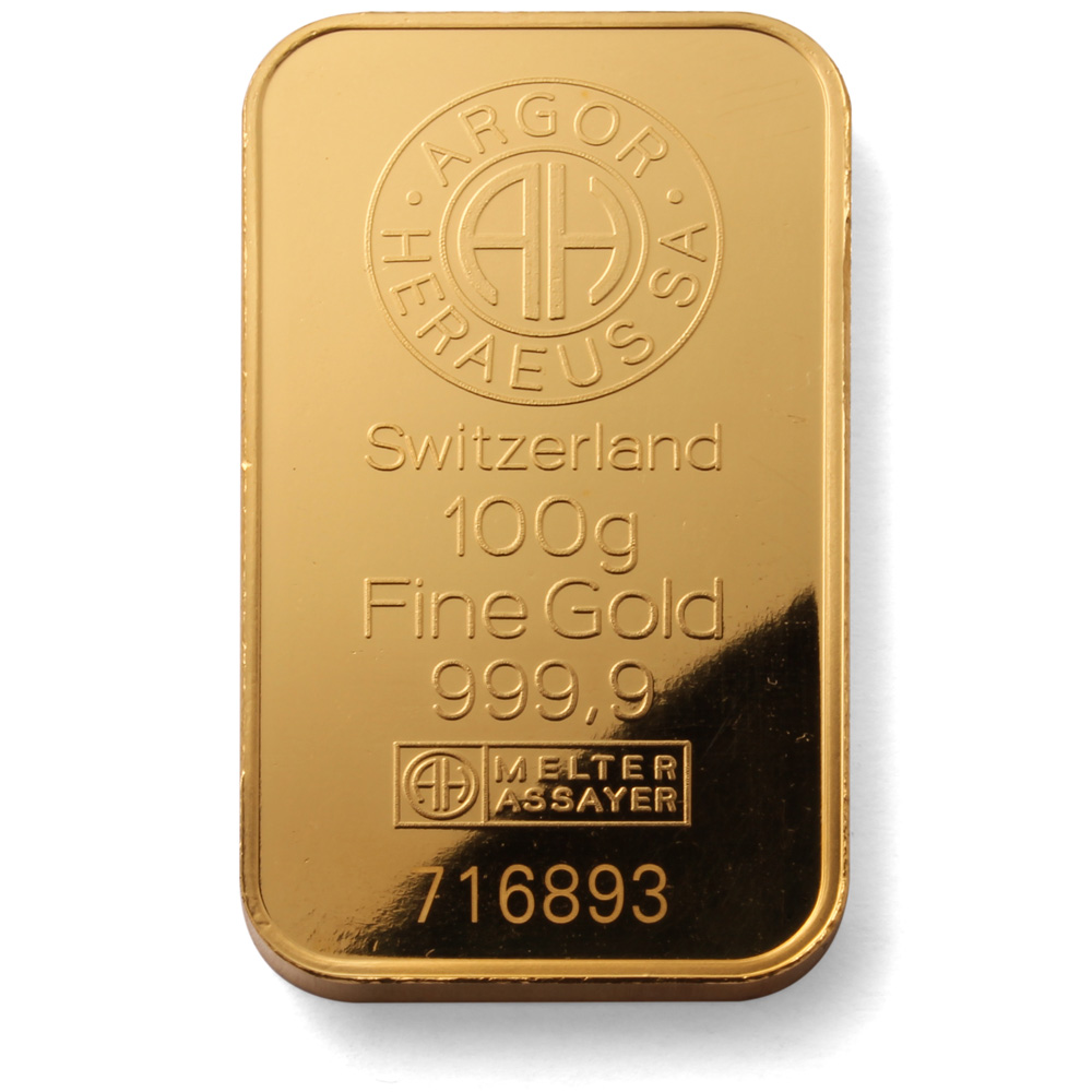Argor Heraeus 100g Gold Bar