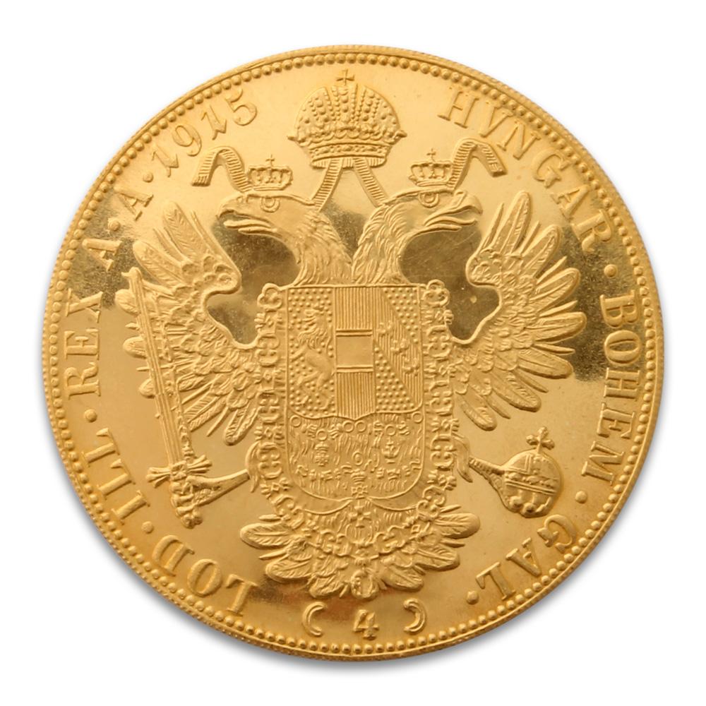 Austrian Four Ducat Gold Coin Austrian Gold Coins