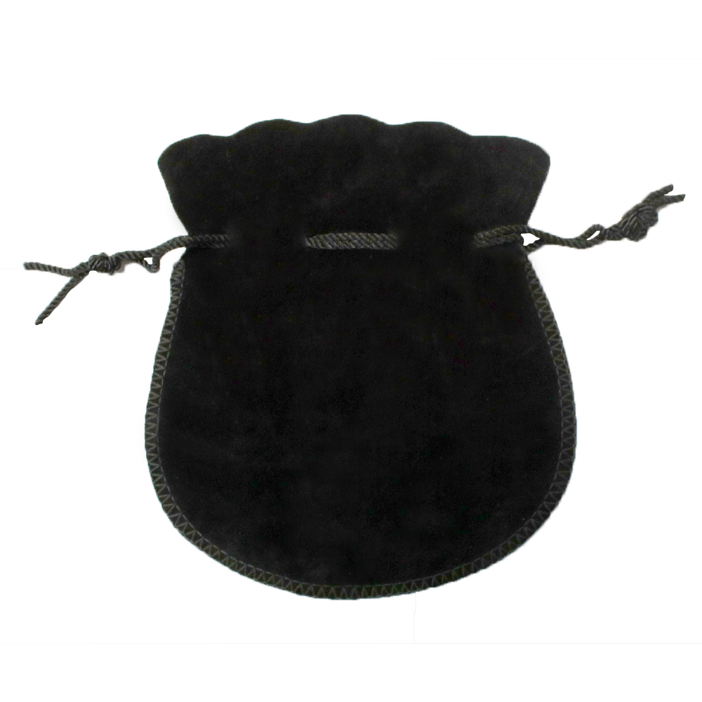 Large Velvet Coin Pouch (BLACK)