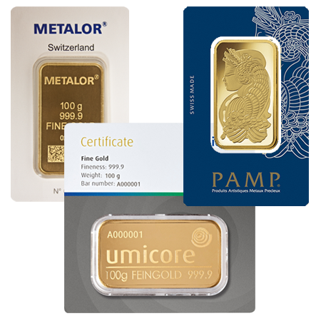 100g Gold Bar Our Choice - Brand New