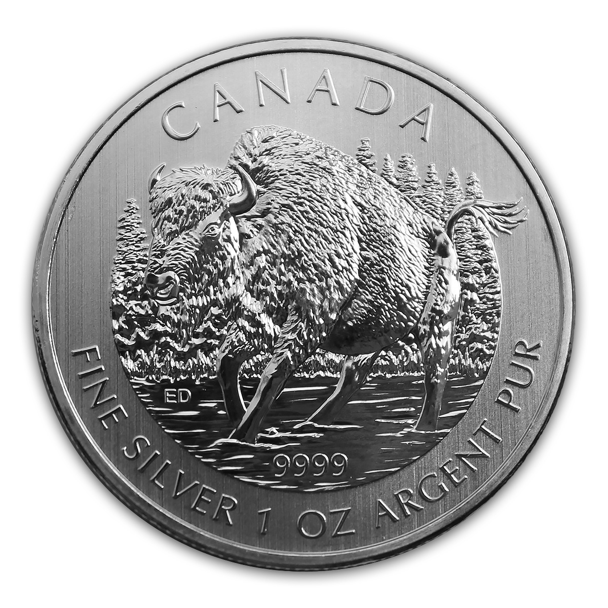 Canadian 1oz Silver Bison Coin Silver Bullion Coins