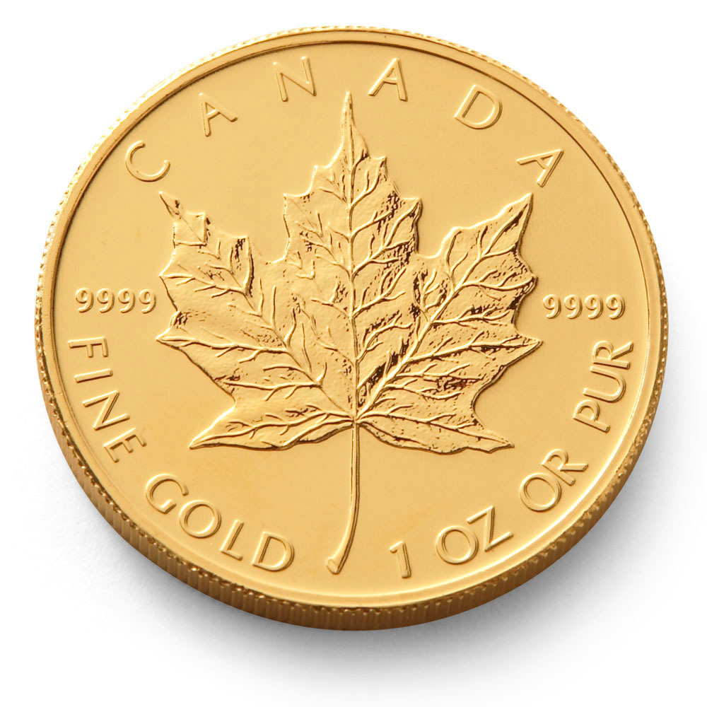 2014 1oz Gold Maple Leaf Canadian Coin Gold Bullion Co
