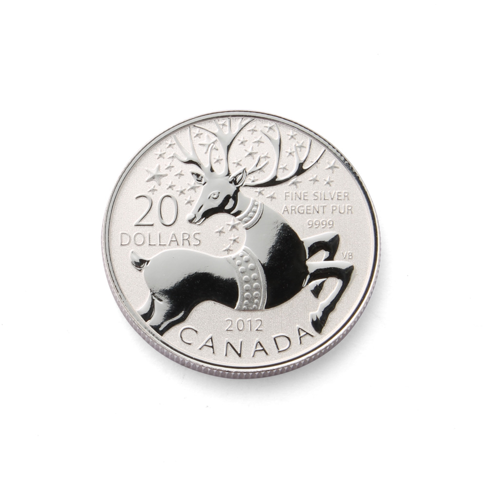2012 1/4 oz Canadian Silver Reindeer Coin